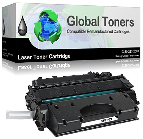 Global Toners Kompatible Laser-Tonerkartusche für HP CF280X / 80X for HP Laserjet Pro 400 M401A, M401D, M401DN, M401DNE, M401DW, M401N, MFP M425DN, MFP M425DW - 6900Seiten (schwarz)