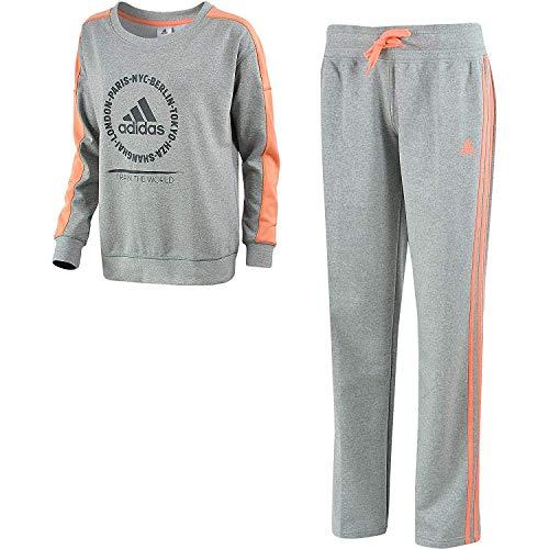 adidas Relax Cott Suit Trackies Trainingspak Vrije tijd pak Dames Grijs