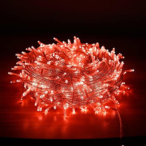 Guirnalda luminosa, 30 m/300 ledes, impermeable, interior y exterior, 8 modos, 220 V, para luces, bonita decoración para Navidad, fiesta,...