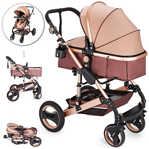 VEVOR Baby Strollers 2 in 1 Portable Infant Baby Carriage...