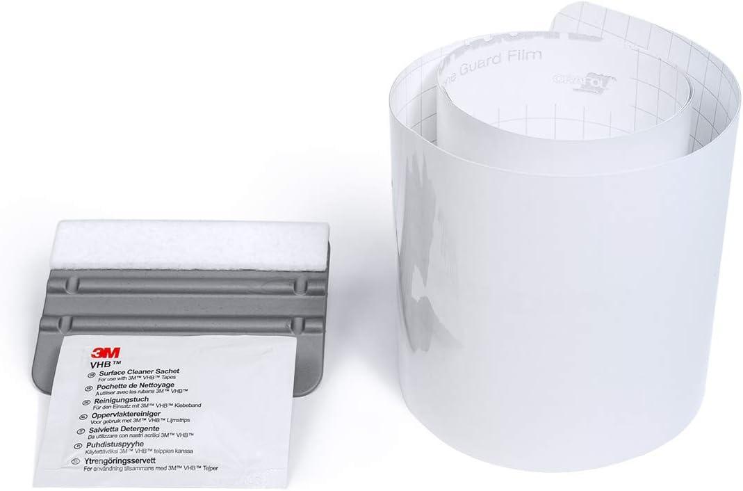 tuning-art FL107 Ladekantenschutz Folie Passgenau mit Rakel Farbe:Transparent