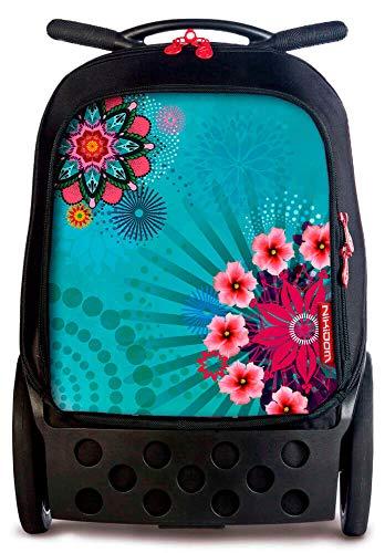 Nikidom 9118 - Mochilla Escolar, 2 Ruedas, Multicolor, XL