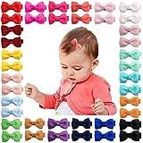 40pcs 2Inches Baby Mädchen Haarschleifen Krokodilklemmen Grosgrain Band Haarspangen Haarschmuck für Kinder Kleinkinder Kleinkinder