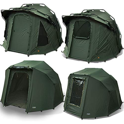 2 Man NGT Fortress 3 Rib Bivvy Green Carp Fishing Tent Waterproof + Overwrap