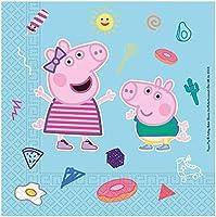 Procos 91878 – servetter Peppa Pig, 20 stycken, storlek 33 x 33 cm, komposterbara motivservetter av papper,...