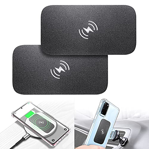 eSamcore Metal Plate for Phone Magnet, Wireless Charging Compatible Phone Metal Plate Sticker for Magnetic Phone Mount Holder for Car [Full Size] for Large Cell Phone 3.3 X 1.7 Inch [2-Pack]