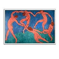 アンリ・マティスキャンバスポスター再生(ダンス)、手をつないで五裸の女性がリビングルームのために描く、フレームレスウォールアートワークス絵画を印刷,30×45cm