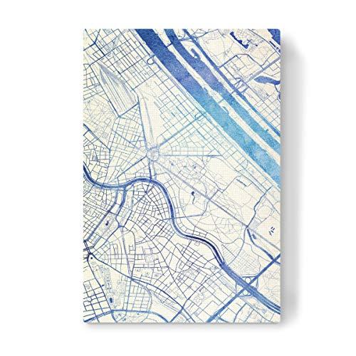 artboxONE Leinwand 30x20 cm Städte Wien O?sterreich Blue Infusion Map I von Makadi Atatu