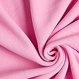Fabulous Fabrics Fleece rosa, Uni, 150cm breit – Fleece