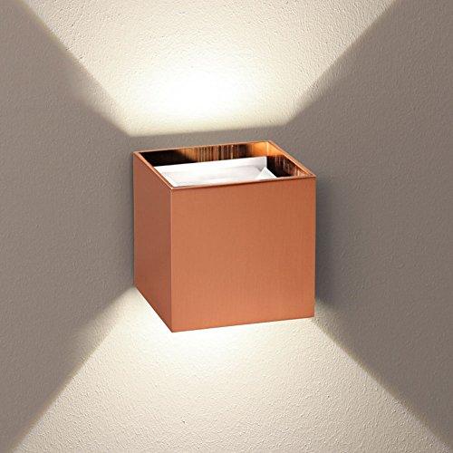 s.LUCE Ixa LED Wandleuchte Kupfer mit verstellbaren Winkel, Up&Down Lichtkegel für effektvolle Beleuchtung im Flur oder Wohnzimmer