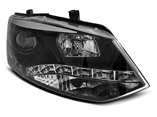 1 paar koplampen Polo 6R 09-14 Daylight DRL LED zwart (WN4)