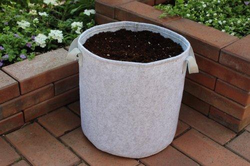 Sacos para plantas en color gris claro de 7,5 – 100 litros.