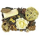 Edel-Potpourri | Set de decoración | 200 g | Varias flores perfumadas | Ramas y elementos decorativos (limón)