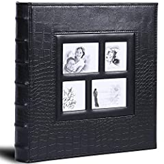 🌹Size & Capacity: This photo album with size 14 x 13 x 2 inches and 60 sheets / 120 pages, hold 600 4x6 inch photos totally. Each page allows you to insert 3 horizontal and 2 vertical photos 🌹Leather Cover Window: An openable pocket (7.7 x 7.3 inches...