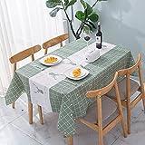 sans_marque Paño de mesa, puede limpiar el mantel de mesa, limpiar la cubierta protectora impermeable de la mesa, se utiliza para la cocina picnic al aire libre interior137 x 90 cm