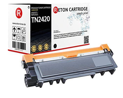 Original Reton Toner | 100% höhere Reichweite | kompatibel zu Brother TN-2420 für Brother DCP-L2510D DCPL-2530DW DCP-L2550DN HL L2310D L2350DW L2370DN L2375DW MFC L2710DW L2730DW L2750DW
