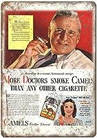 More Doctors Smoke Camels Cigarette ティンサイン ポスター ン サイン プレート ブリキ看板 ホーム バーために