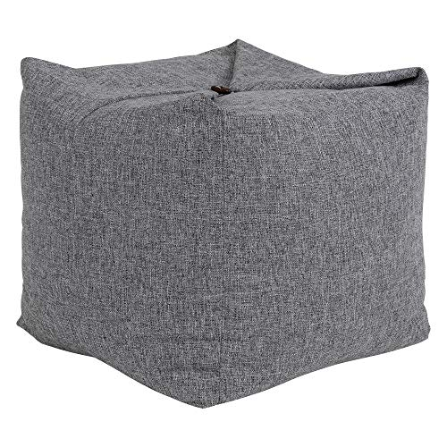 icon Origami Bean Bag Pouffe, Convertible Ottoman Floor Cushion Chair, Living Room Bedroom Footstool Bean Bags