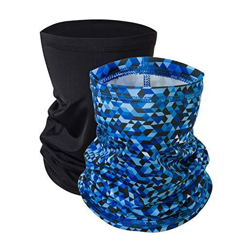 Ragazze multifunzionali termiche caldo pile Balaclava Hood, pieno facciale Cappelli maschera scaldacollo Outdoor Sport invernali Snowboard Proof - Blu