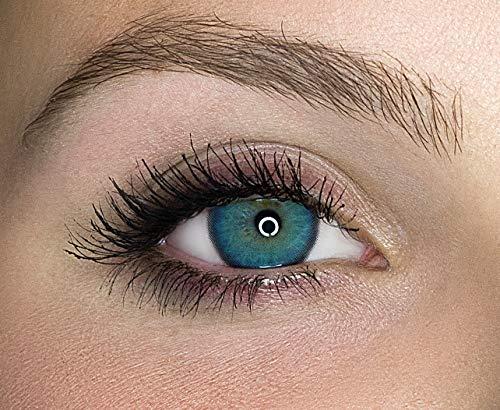 Kontaktlinsen farbig ohne Stärke farbige Jahreslinsen weiche Linsen soft Hydrogel 2 Stück Farblinsen + Linsenbehälter 0.0 Dioptrien natürliche Farben Serie Mystery Deep Green (dunkelgrün)