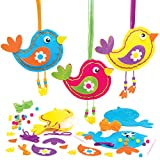 Baker Ross AT568 Kits Costura Pájaros, kits de manualidades para niños (paquete de 3)