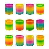 German Trendseller® - 6 x Magische Neon Regenbogen Spirale ┃ -NEU- ┃ Kindergeburtstag ┃ Mitgebsel ┃ Neon ┃ Regenbogenspiralen ┃ 6 Stück