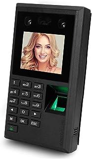 آلة الحضور والانصراف البيومترية الوجه بصمة كلمة المرور الوقت الحضور موظف تسجيل الدخول مسجل 2.8 بوصة شاشة DC12V USB موظف جه...