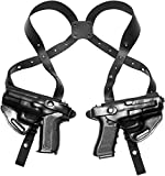 Craft Holsters FN FNS 40 Compatible Holster - Double Shoulder Holster System (42/42-BLK)