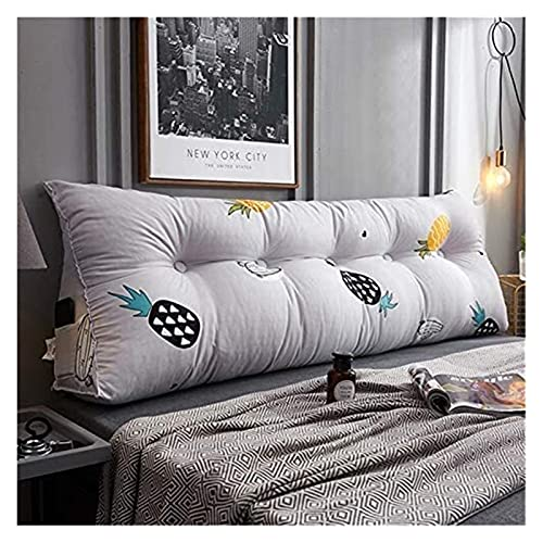 Cojín de cuña para respaldo triangular, cojín de respaldo de lectura, cojín de sofá – Cojín transpirable para cabeza de cama Tatami – Cojín lumbar – Cama cómoda superior para dormitorio