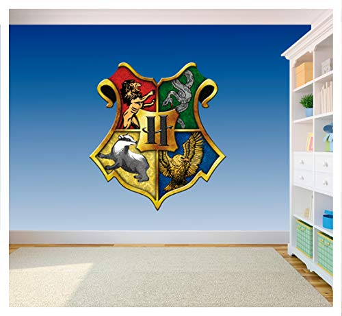 Adhesivo de vinilo con el escudo de Hogwarts (SS40083), vinilo, Large 420 x 460mm
