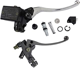 HURI Brake Master Cylinder with Left Clutch Lever for Suzuki Quadrunner Quadsport LT125 LTF160 LT185 LT50 LT80 LT160