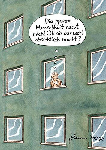 Postkarte A6 • 78904 ''Die Menschheit nervt'' von Inkognito • Künstler: INKOGNITO • Satire • Cartoons •