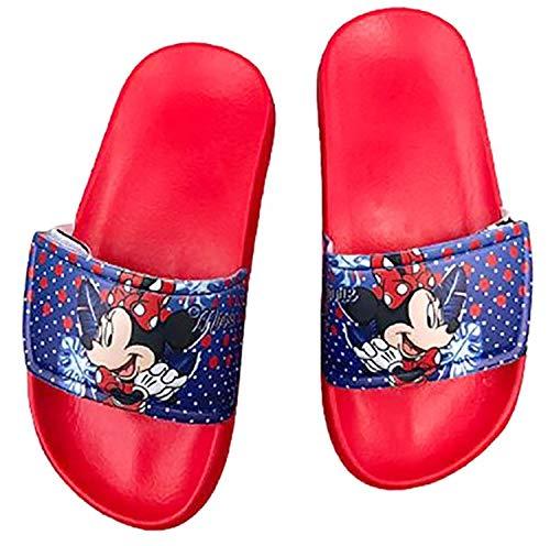 -Minnie Ciabatte Piscina Bambina Mare 24/25-26/27-28/29-30/31 Disney Estate 2021 (29/30, Rosso)