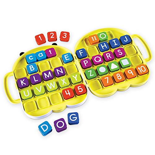 Learning Resources AlphaBee Alphabet, Homeschool, ABCs, Numbers, Shape & Word Recognition Activity Set, Multicolor