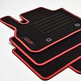 Mattenprofis Velours Logo Fußmatten passend für Renault Zoe II ab Bj.2020 rot