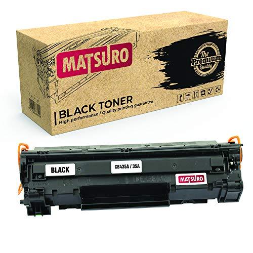 Matsuro Original | Compatible Cartucho de Toner Reemplazo para HP CB435A 35A (1 Negro)