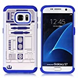 Galaxy S7 Case, S7 Case, R2D2 Astromech Droid Robot Pattern Shock-Absorption Hard PC and Inner Silicone Hybrid Dual Layer Armor Defender Protective Case Cover for Samsung Galaxy S7
