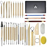 Augernis Pottery Sculpting Tools 32PCS Ceramic Clay Carving Tools Set for Beginners Expert...