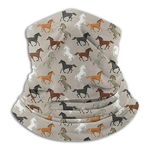 Cute Horse Seamless Face Mask Bandanas Neck Gaiter for Dust, Breathable Sun Protection Cool Windproof