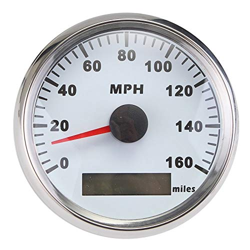ELING Waterproof GPS Speedometer MPH Speedo Gauge 160MPH for Car Motorcycle Boat with Backlight 3-3/8 inch 9-32V