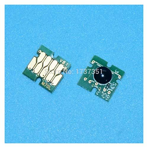WSCHENG 6 Color IC80 Chip Auto Reset Chip Uso Permanente para EPSON EP-977 EP-907 EP-807 EP-807 EP-777 Impresora