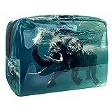 Bolsas de Aseo Elefante Animal Impermeable Neceser Avion Unisexo Neceseres de Viaje Bolsa de Cosmético Neceser PVC Impermeable Organizador de Viaje Durable 18.5x7.5x13cm