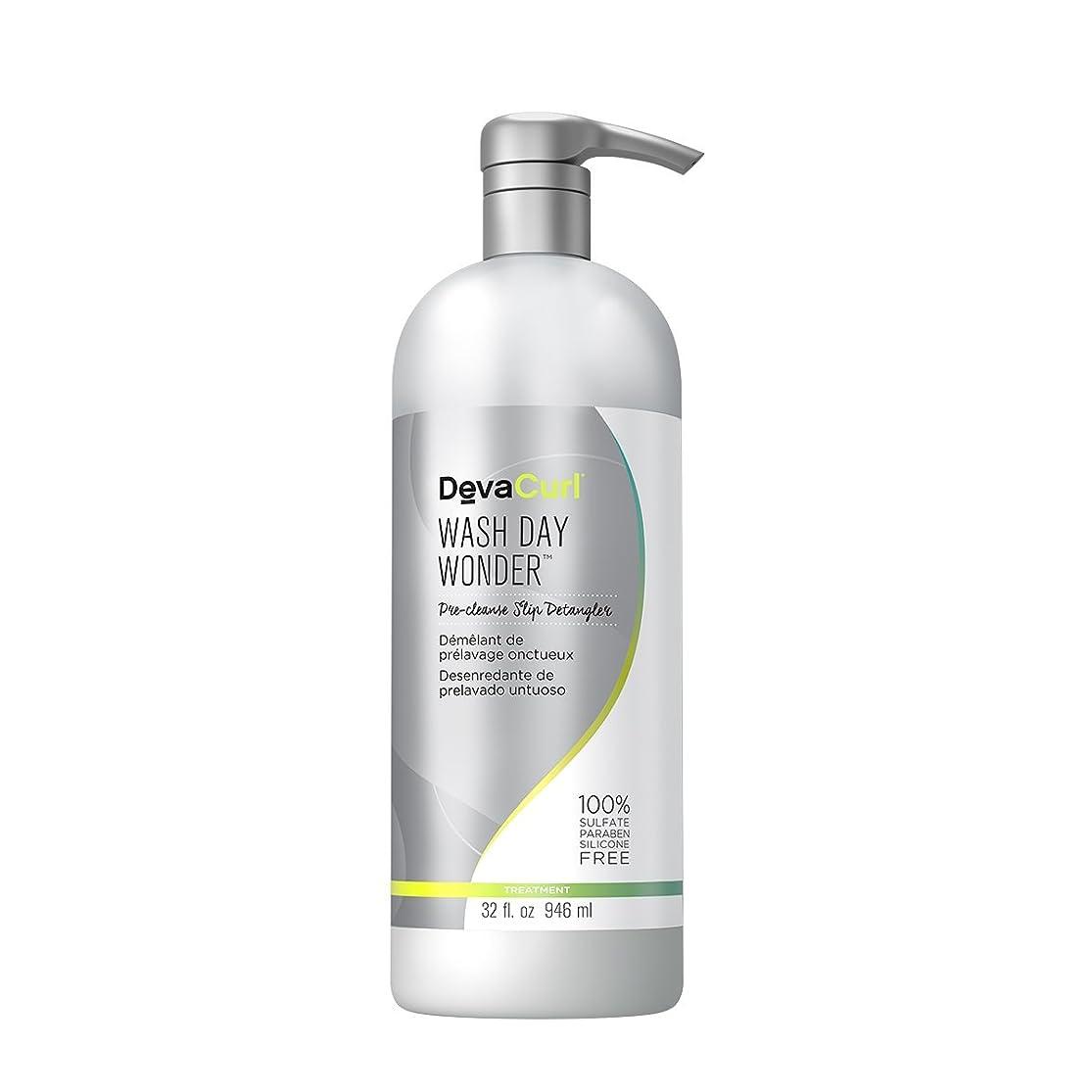 休眠ヘア毒液デヴァ Wash Day Wonder (Pre-Cleanse Slip Detangler - For All Curl Types) 946ml/32oz並行輸入品