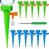 CENRONG Riego por Goteo Automático Kit,12 Pcs Sistema de riego automático por Goteo Ajustable Dispositivo de riego,para Jardín Bonsáis y Flores