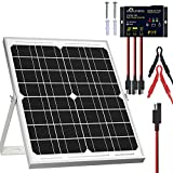SOLPERK Solar Panel Kit 20W 12V, Solar Battery Trickle Charger Maintainer + Upgrade Waterproof Controller + Adjustable...