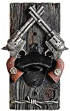 Wall Mount Bottle Opener,Old Vintage Pistol Decor Novelty Birthday Present,Cool Unique Gifts for Fathers Dad Husband Men Beer Lovers