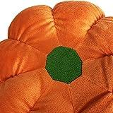 """URSUN Stuffed Pumpkin Fluffy Pumpkin Plush Durable Halloween Pumpkins Decorative Couch Throw Pillow Soft Pumpkin Gift Party Christmas Orange 11.8"""""""