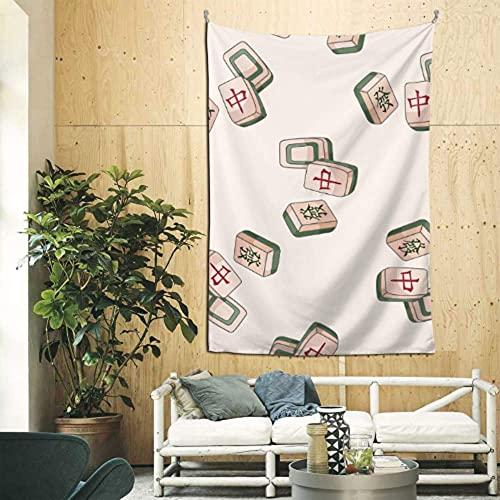N\A Tapices Decorativos de Pared, Entretenimiento de China, Juego de Mesa de Mahjong, decoración del hogar, Arte de Pared para el apartamento, Dormitorio, telón de Fondo, decoración del hogar