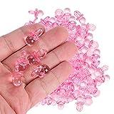 Mini chupete de tamaño pequeño para accesorios de decoración de mesa(Pink)