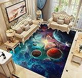Alfombras Dormitorio Juvenil Chico Infantiles Niño Juegos 3D Gamer Galaxia Alfombras De Habitacion Rectangular Lavables Pelo Corto Vinilicas Grandes Pequeñas Alfombras Salon (Colore,80x160 cm)